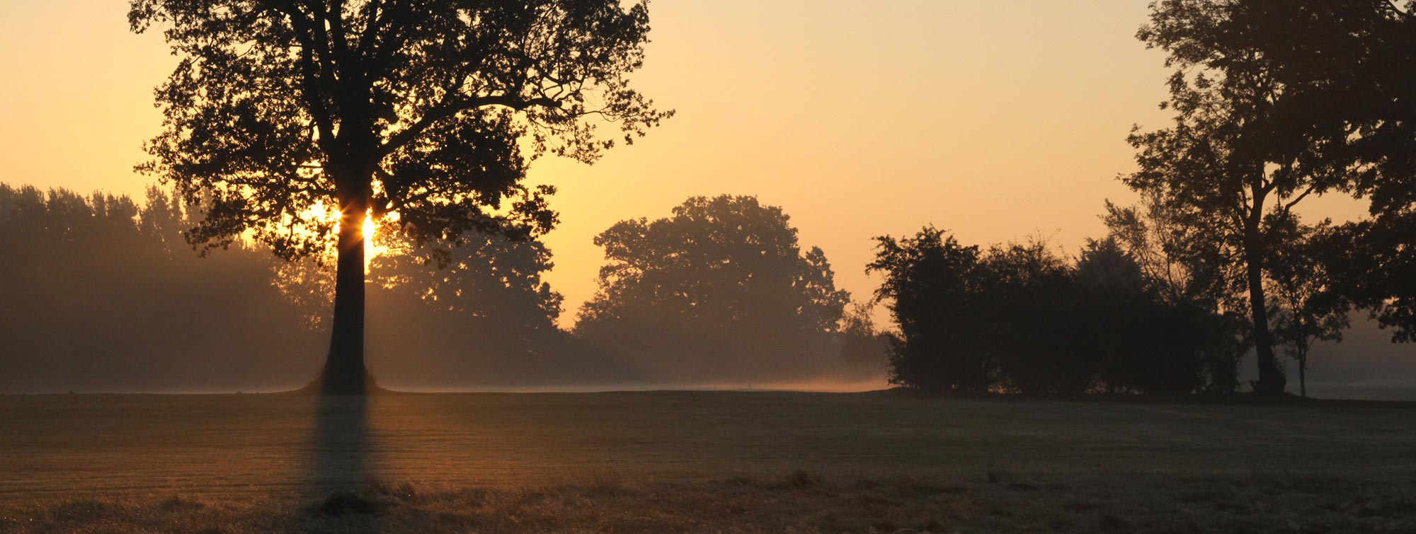Sunset over the 2nd at Chartridge Park Golf Club