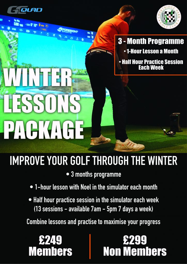 Winter lessons package with Noel Quinn at Chartridge Park Golf Club